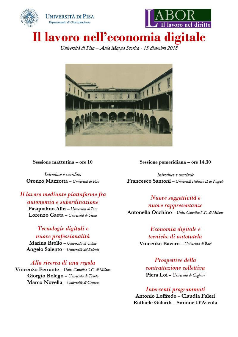 Locandina Pisa 13 dicembre